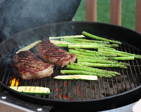 Ribeye Steaks on a Charcoal Grill!