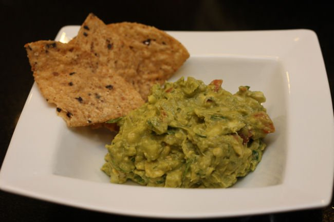 Homemade Guacamole with Grilled Corn