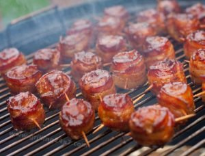 Moink Balls – Smoked Bacon Wrapped Meatballs