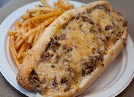 Habanero Cheddar Cheesesteaks Leftover Roast Beef Grilling 24x7