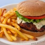 Grilled Turkey Burgers with spicy chiles in adobo