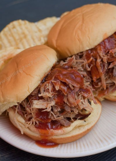 Homemade Pulled Pork on a Charcoal Grill
