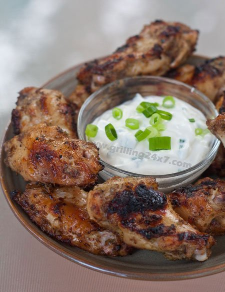 Grilled Jamaican Jerk Chicken Wings - Grilling24x7