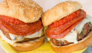 Grilled Meatball Burgers With Pepperoni!