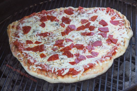 Grilled NY Style Pizza