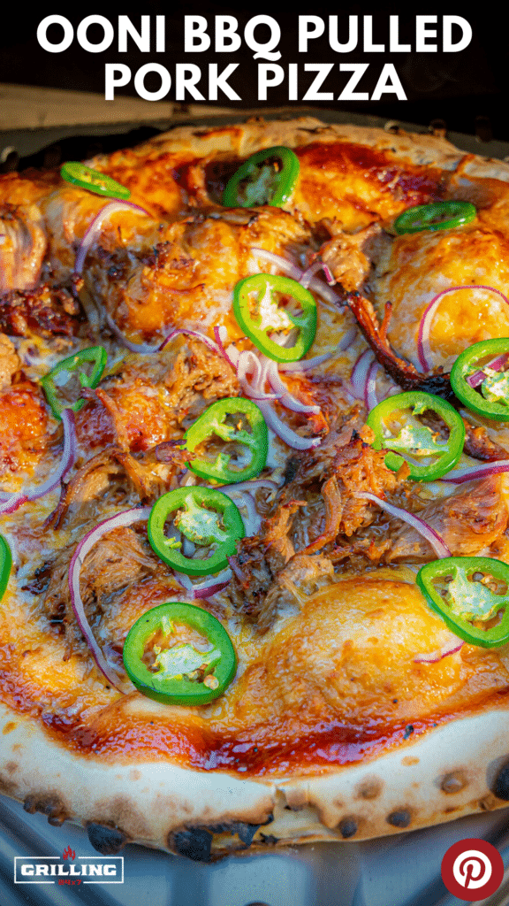 Ooni Wood fire bbq pulled pork pizza