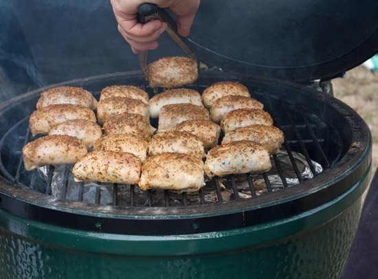 bbq chicken on a big green egg - competition bbq photos