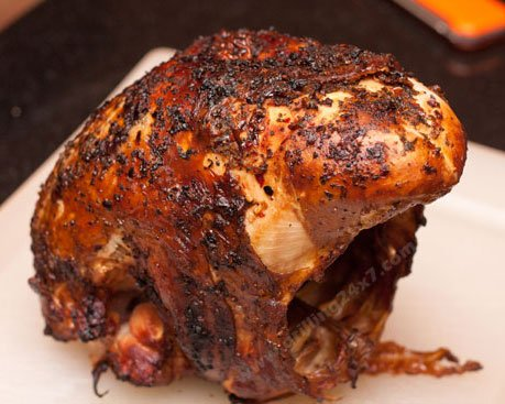 Grilling a Turkey Breast | How to grill a turkey breast with a butter injection