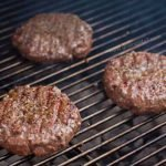 Juicy burgers on the grill