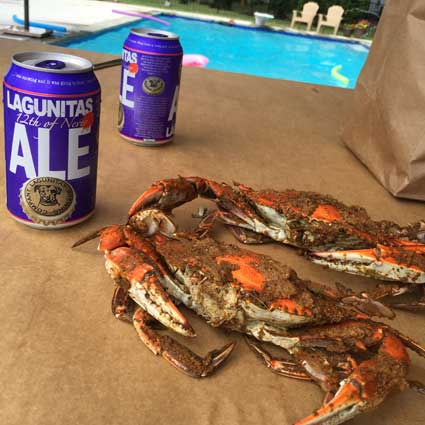 Poolside crabs in MD