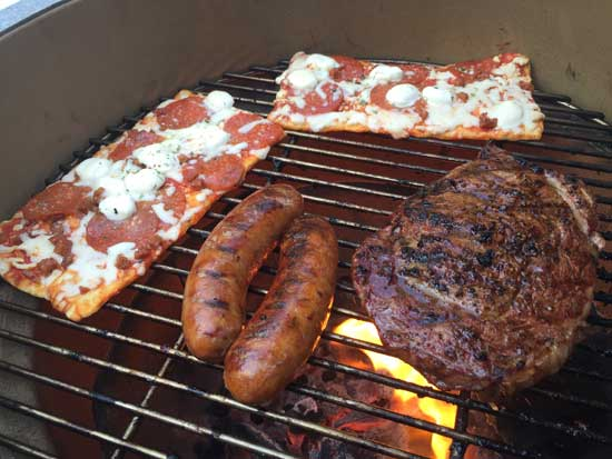 grilling for a poolside party - grilling photos