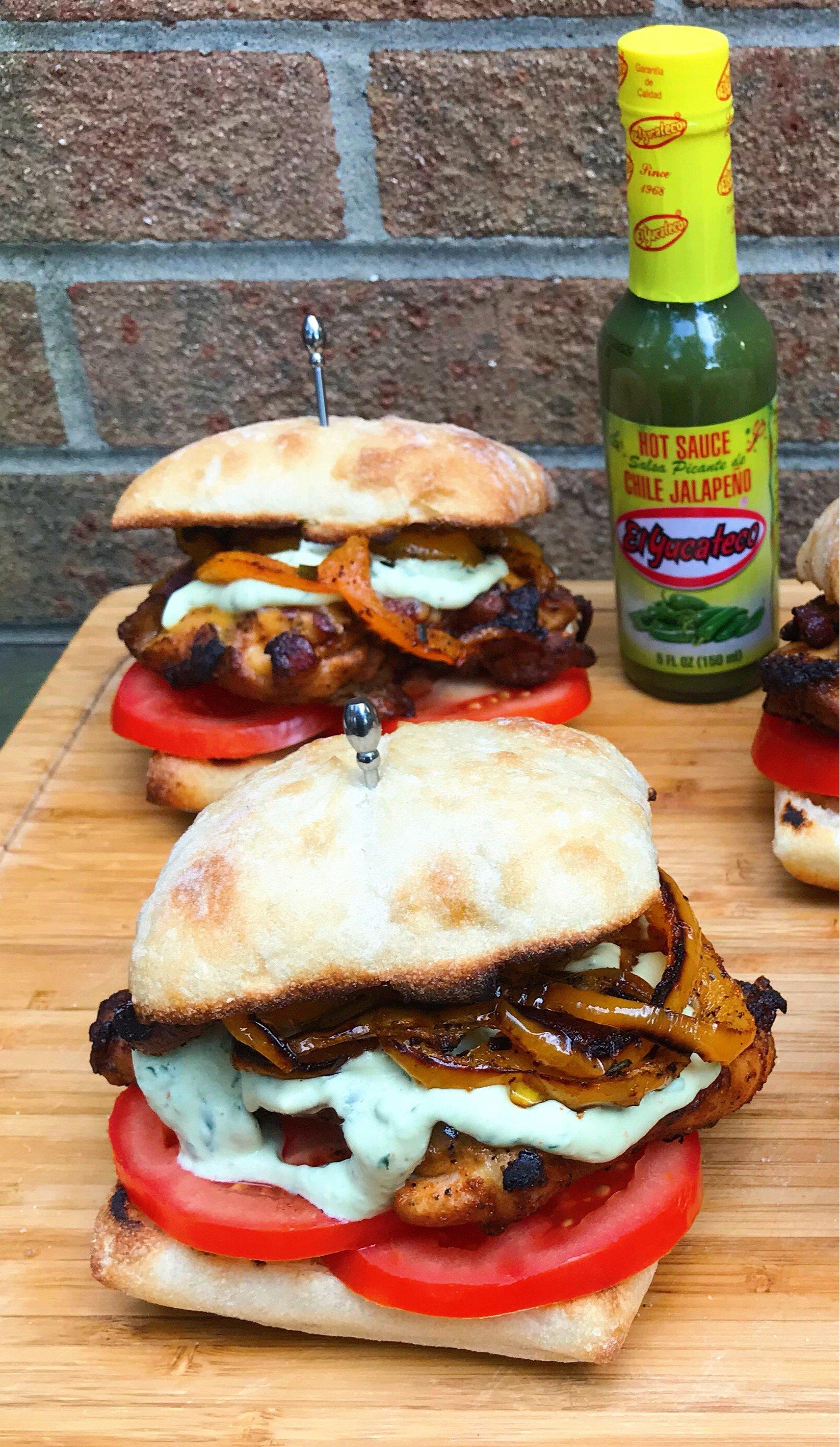 Avocado Jalapeño Crema sandwich