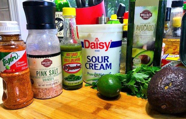 Avocado Jalapeño Crema ingredients