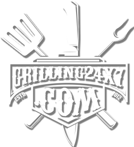 Grilling 24x7 logo crossed bbq tools