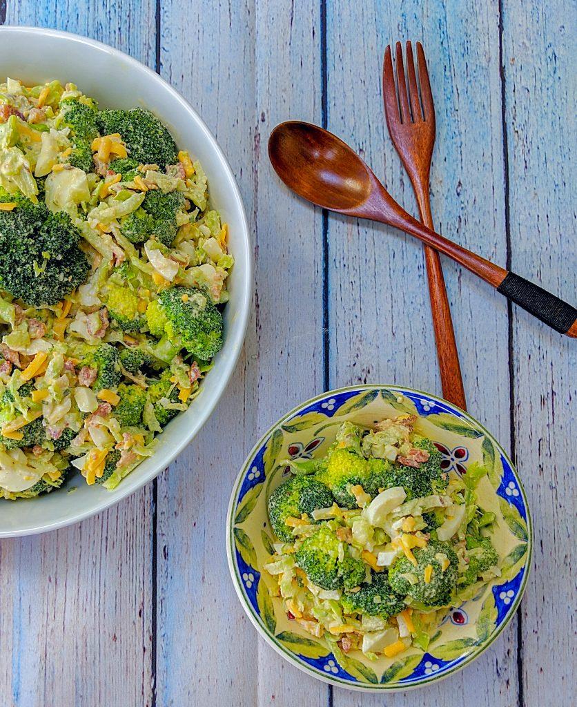 White BBQ Broccoli Salad