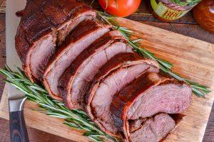 Smoked Bacon Wrapped Leg of Lamb