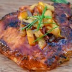 BBQ Pork Chops with Caramelized Apples