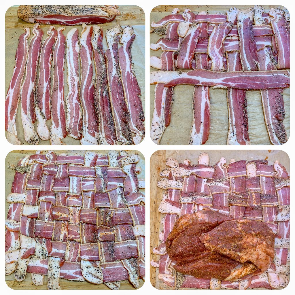 Bacon Wrapped Leg of Lamb