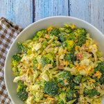 White BBQ Broccoli Salad