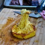 Grilled-spaghetti-squash-forked
