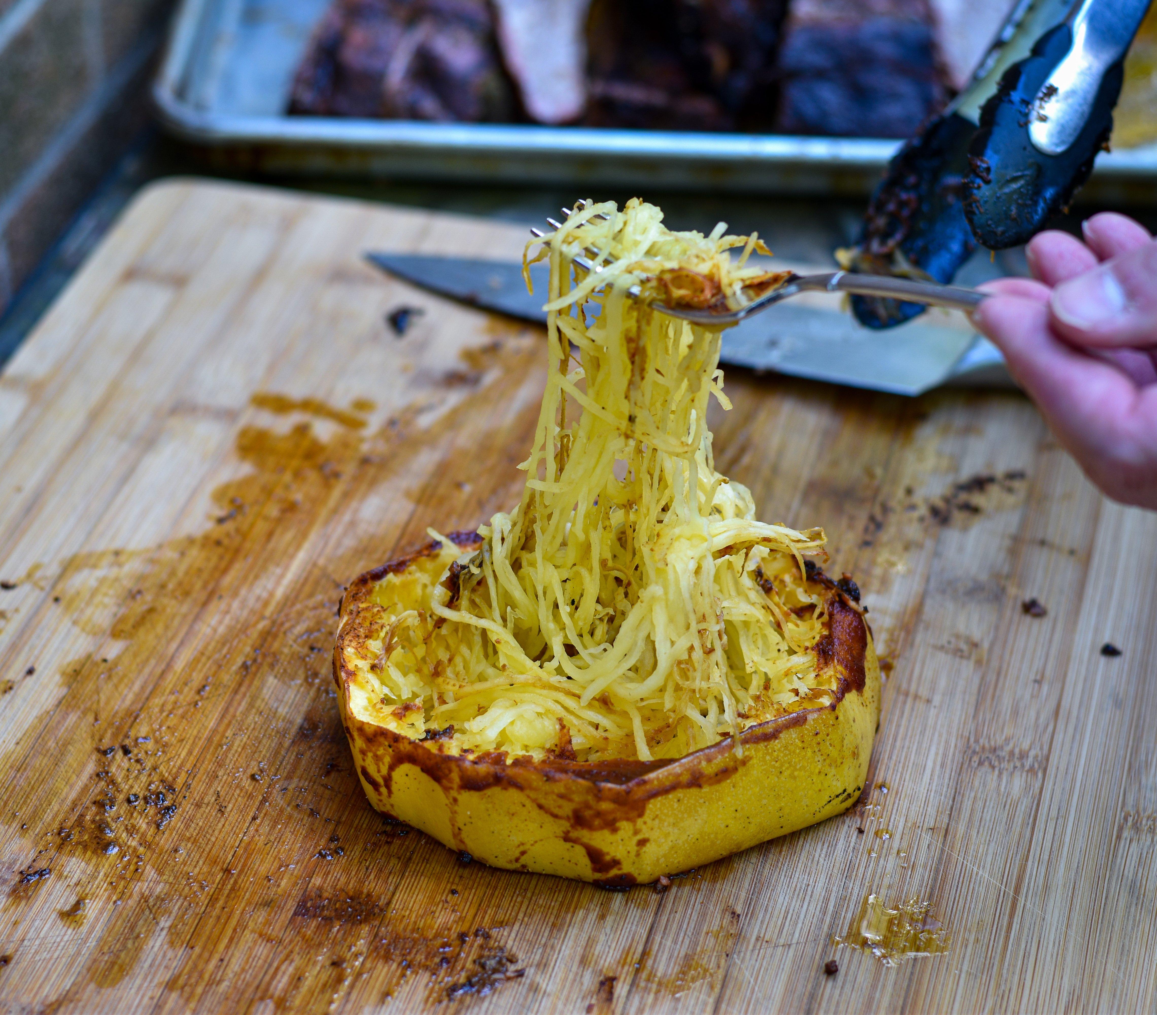 BBQ Grilled Spaghetti Squash Rings