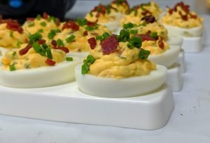 Taylor Pork Roll Deviled Eggs