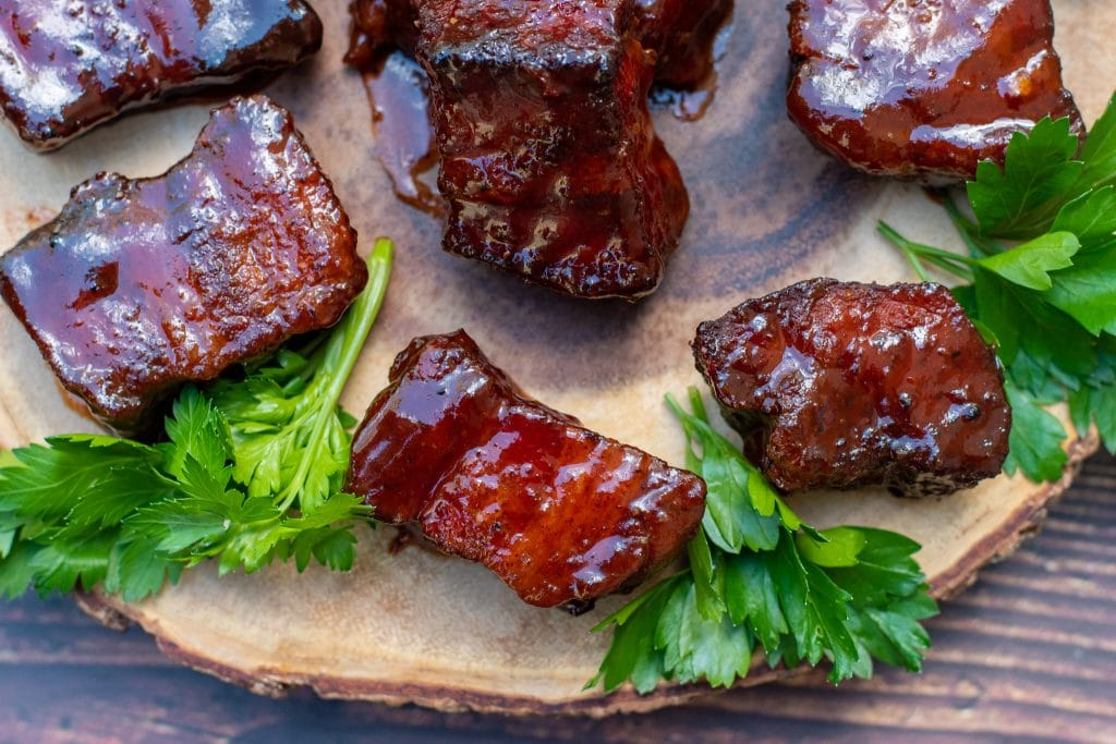 bacon burnt ends with slab bacon