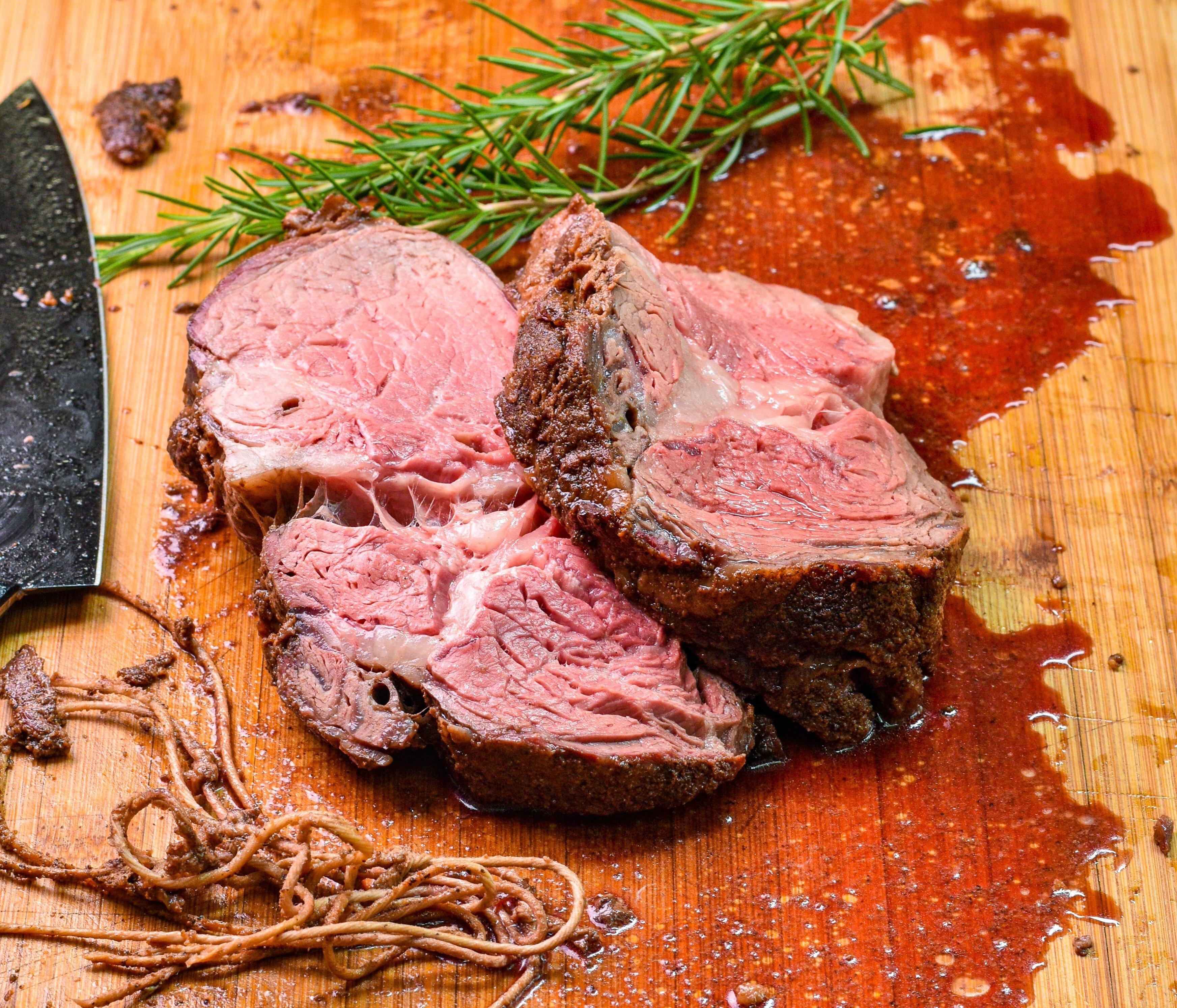 Rotisserie Prime Rib roast Weber Kettle
