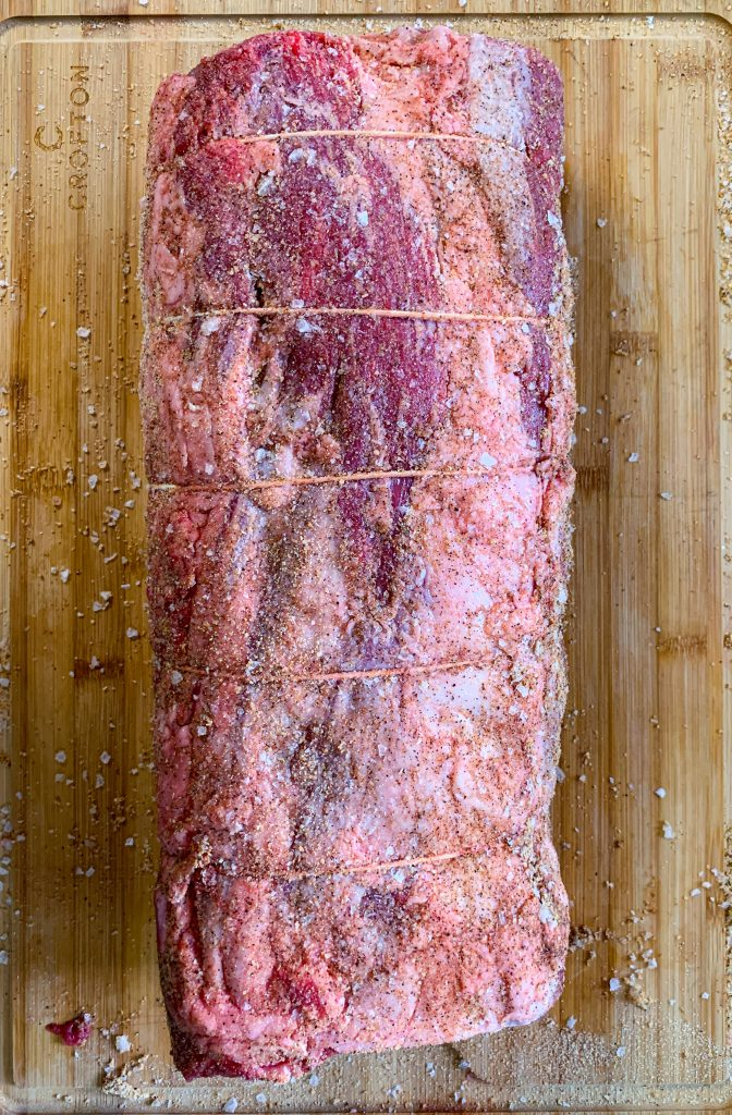 how to tie a prime rib for the rotisserie