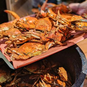 Freshly Steamed Maryland crabs
