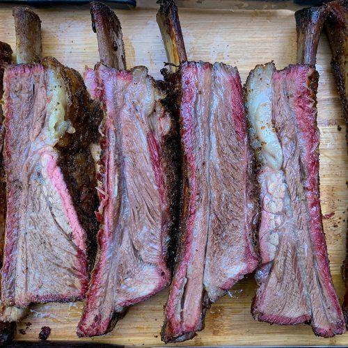 Texas Style Beef Ribs Rec Tec Pellet Smoker