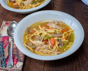 Chicken & Späetzle Soup