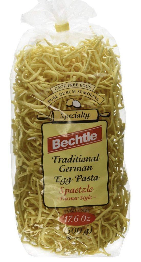 dry spaetzle egg noodles