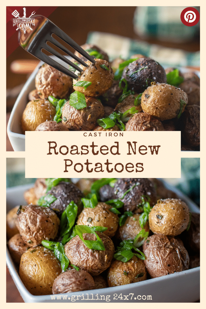 Cast Iron roasted new potatoes