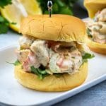 Seafood salad Sandwich with imitation crab and shrimp