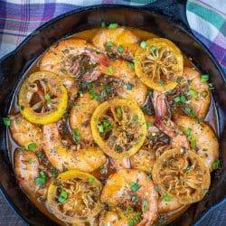 Barbecue shrimp cast iron skillet recipe