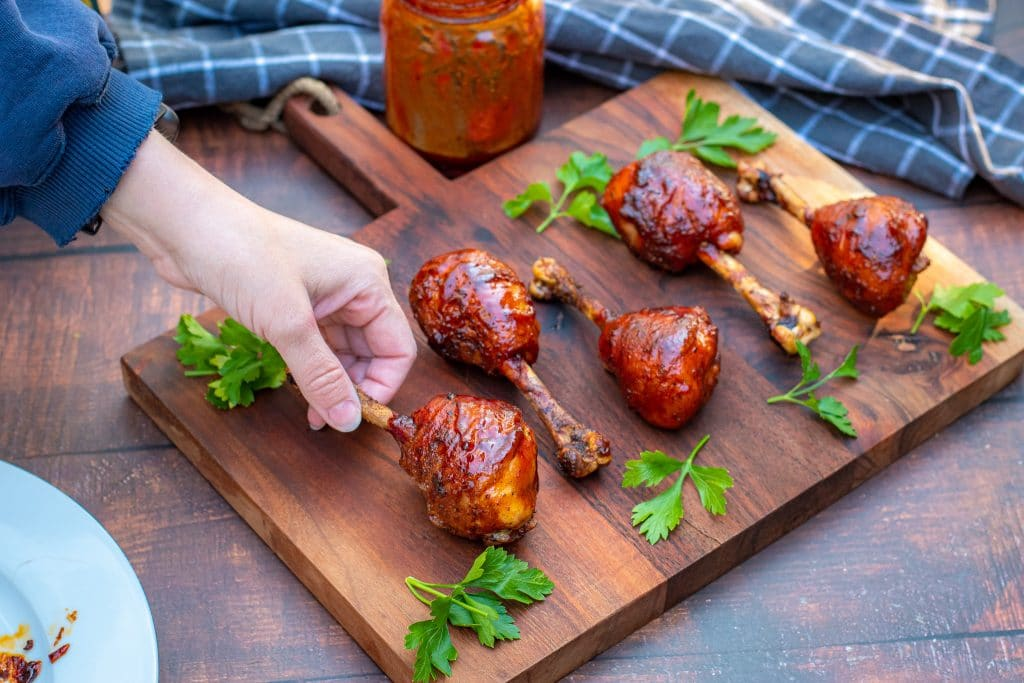 candied drumstick barbecue lollipops
