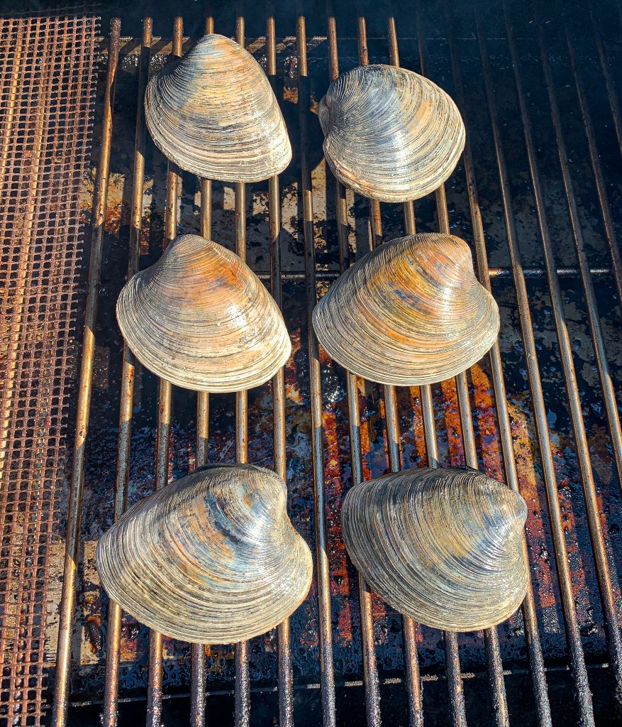 cherrystone clams on a pellet grill fro clams casino