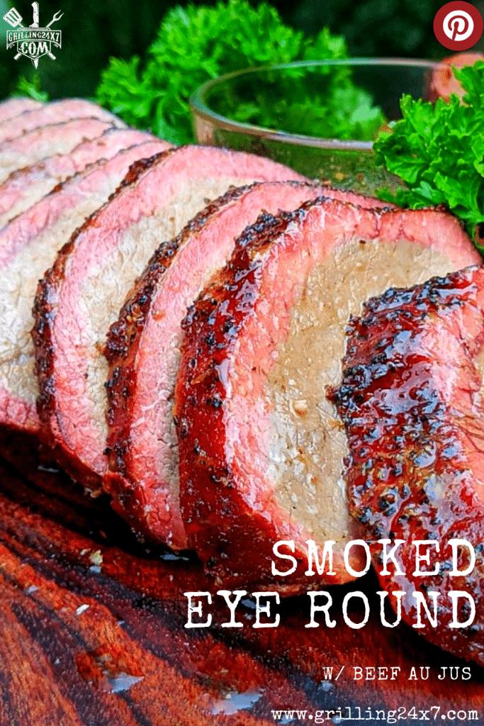 smoked eye round w/ beef au jus