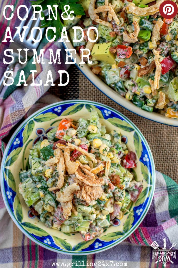 Corn & Avocado summer salad recipe