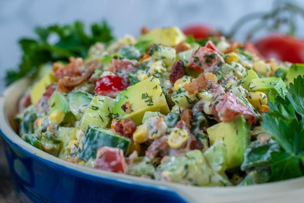 fresh summer sides corn and avocado summer salad
