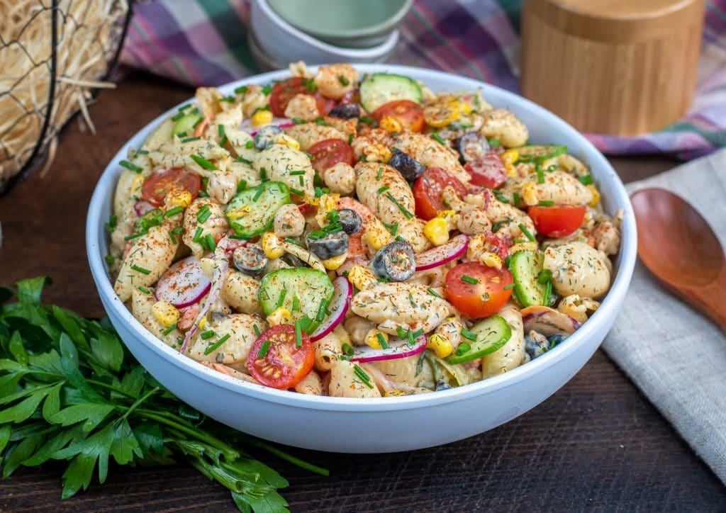 low fat healthy pasta salad recipe
