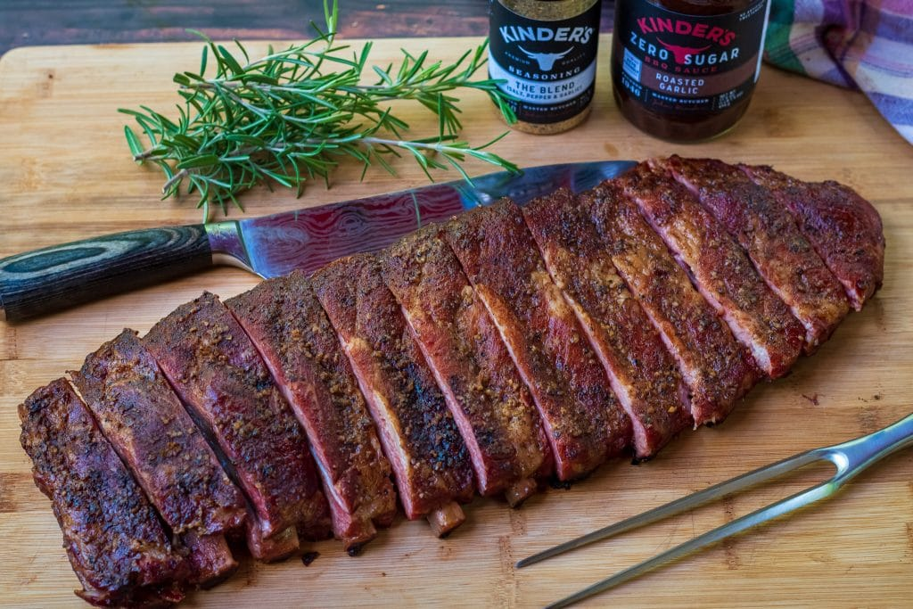 Texas style dry rub ribs with kinders the blend seasoning