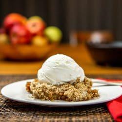 smoked apple crisp dessert