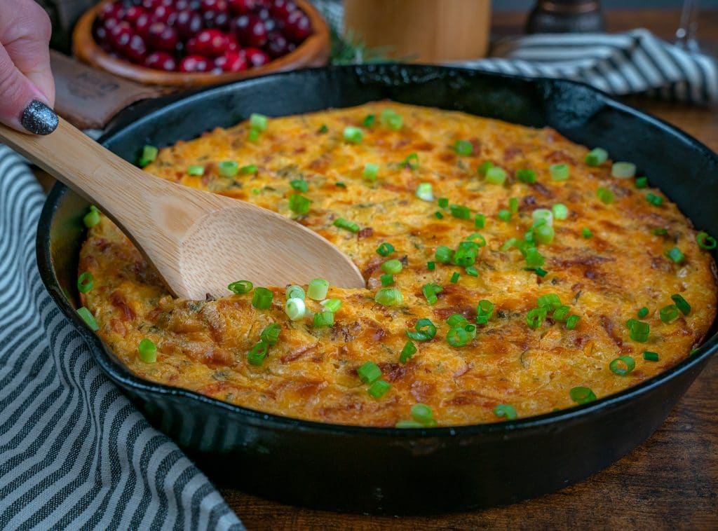 cast iron corn casserole with jiffy corn muffin mix