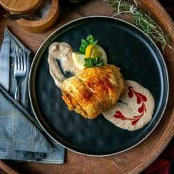 stuffed flounder with spicy sriracha remoulade
