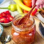 Spicy Calabrian chili tomato jam recipe