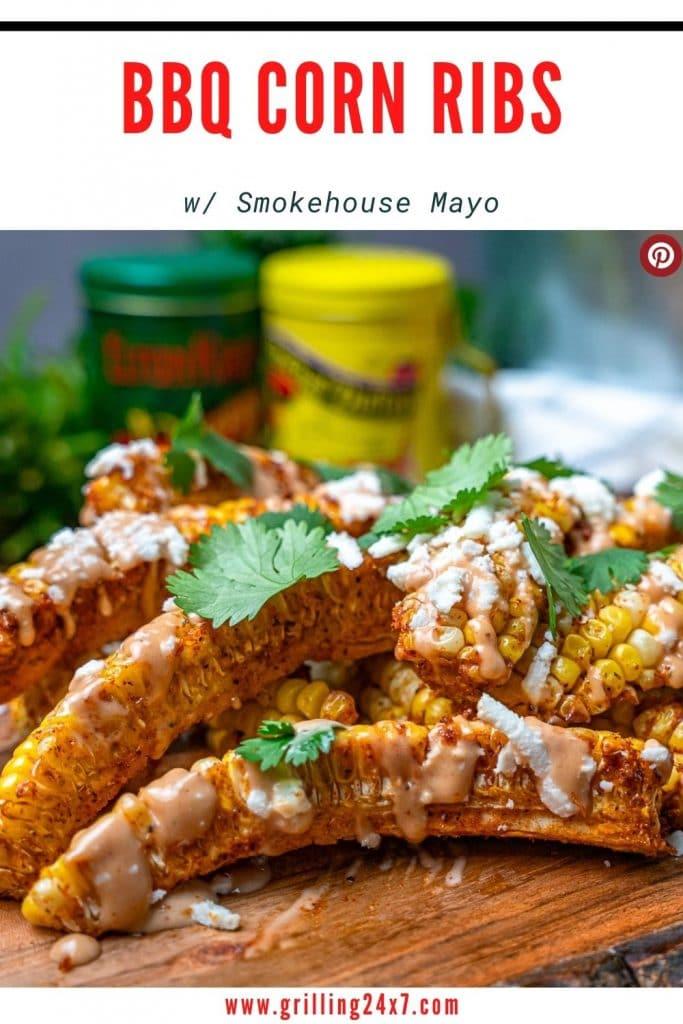 BBQ Corn ribs with smokehouse mayo