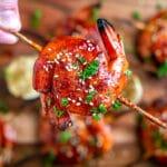 Grilled Shrimp Skewers with hoisin bbq sauce recipe