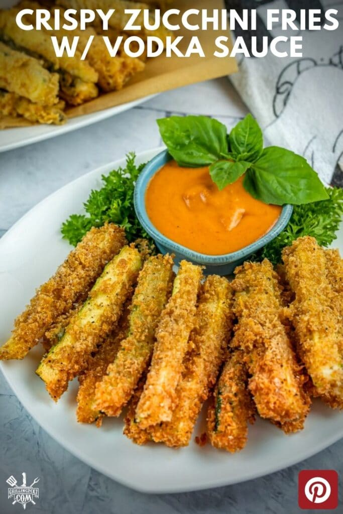Whether its the peak of zucchini season or the dead of winter these Zucchini Fries with vodka sauce are a hit with friends and family alike.